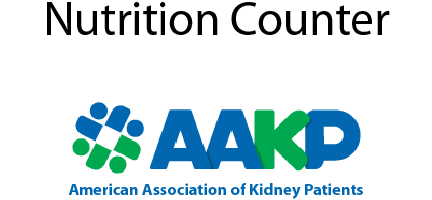 American Association of Kidney Patients Nutrition Counter link