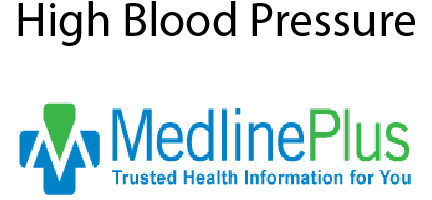 MedLine Plus High Blood Pressure link