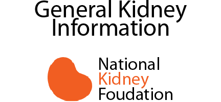 National Kidney Foundation General Kidney Information link